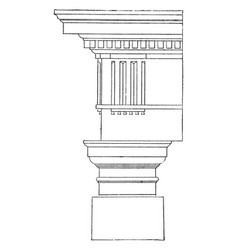 Doric order dropping straight vintage engraving vector