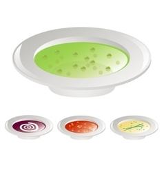 Four soups vector