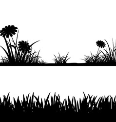 Grass silhouettes stock vector