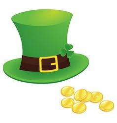 happy saint patricks day 17 march with leprechaun vector image vector image