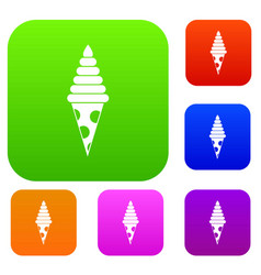 ice cream set collection vector image