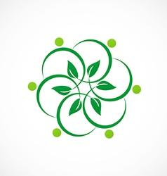 Leaf flora decoration logo vector