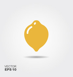 Lemon flat icon with shadow vector