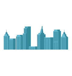 modern city skyline town towers building vector image vector image