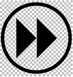 next sign gray dark button on transparent vector image vector image