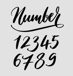 Number typography vector