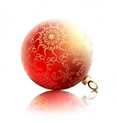 ornate fir ball vector image vector image