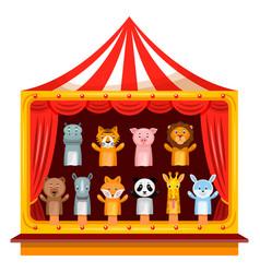 Puppet show theatre vector
