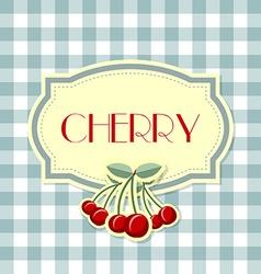 Retro cherry label vector