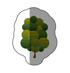 stamp stylized tree icon vector image
