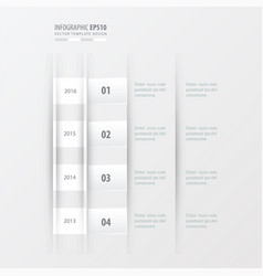 Timeline design design white color vector
