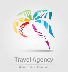 Travel agency business icon vector