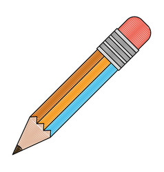 White background with colored crayon silhouette of vector