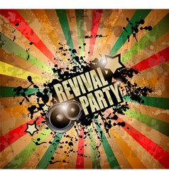 Club party flyer vector