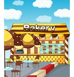 A bakery store vector image