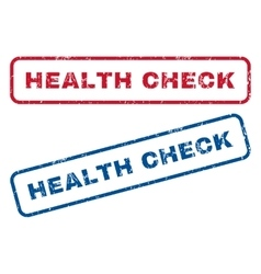 Health check rubber stamps vector