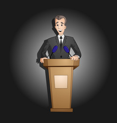 President speech from tribune vector