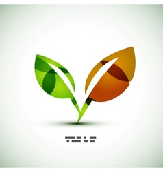 Eco green leaves vector