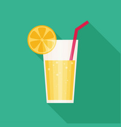 Juice glass icon flat icon with long shadow vector