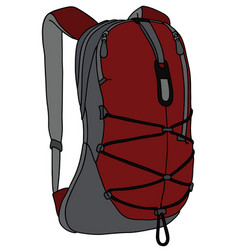 Dark red and gray backpack vector