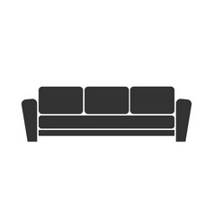 Sofa icon on white background vector