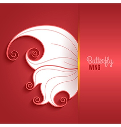 Card with abstract butterfly wing vector