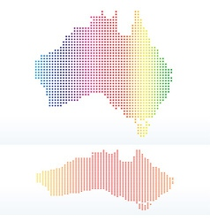 Map of commonwealth of australia with with dot vector