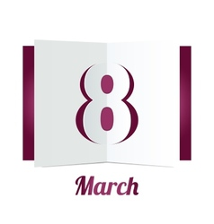 8 march womens day paper gift box on white vector