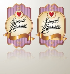 Colored vintage label pink vector