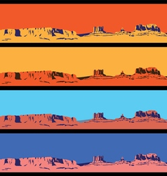Wild West mini set vector image