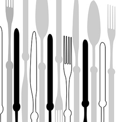 Menu with cutlery vector