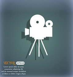 Video camera sign iconcontent button on the vector