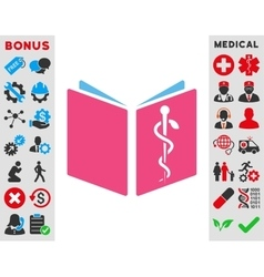 Drug handbook icon vector