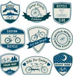 Bicycle Vintage Badges Set vector image