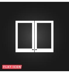 Two plastic Window icon vector image