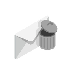 Delete message icon isometric 3d style vector