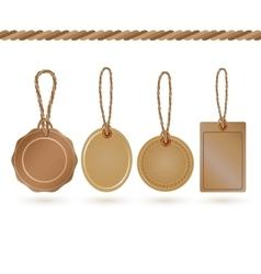 Set of tags Cardboard vintage sale labels vector image