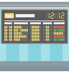 Background of schedule board vector