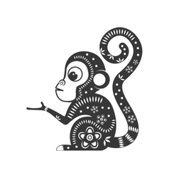 Cartoon monkey icon cute animal design vector
