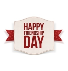 Happy friendship day festive banner vector