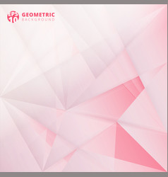 Abstract lowpoly on pink color background vector