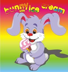 Bunny ice cream vector image vector image