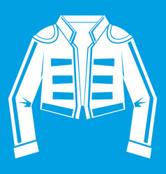 Costume of toreador icon white vector