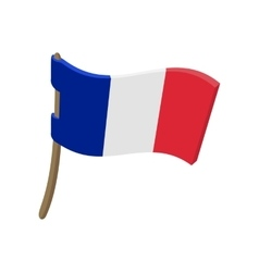 Flag of France icon cartoon style vector image vector image