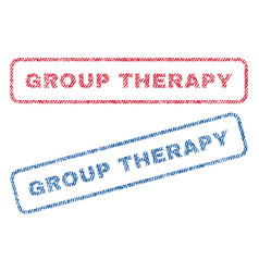 Group therapy textile stamps vector