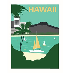 Hawaii usa vector