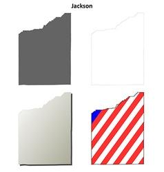 Jackson map icon set vector