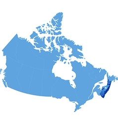 Map of canada - nova scotia province vector