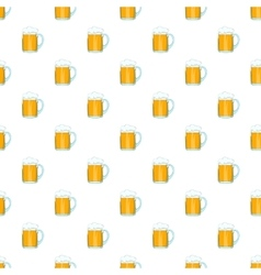 Mug with beer pattern cartoon style vector