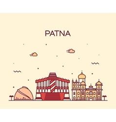 Patna skyline silhouette linear style vector image